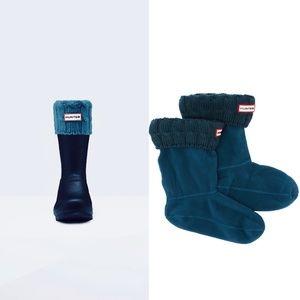🆕HUNTER Original Short Cable Knit Cuff Boot Sock